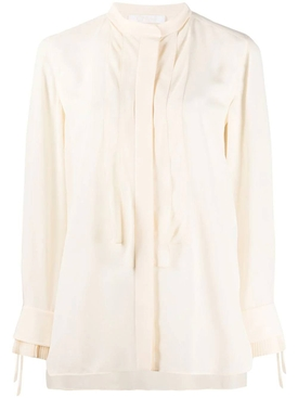 Chloé - Pleated Details Buttercream Blouse - Women