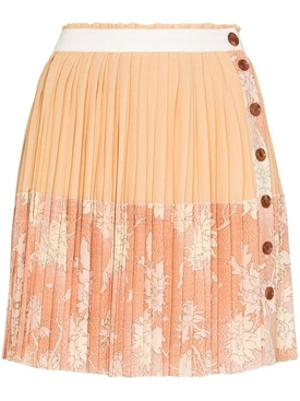 Cloudy Rose Pleated Skirt
