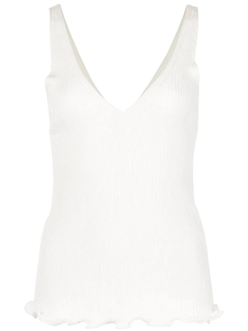 Chloé - Ribbed-knit Stretch Tank Top White - Women
