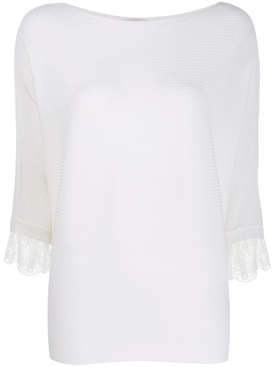 lace batwing sleeve top