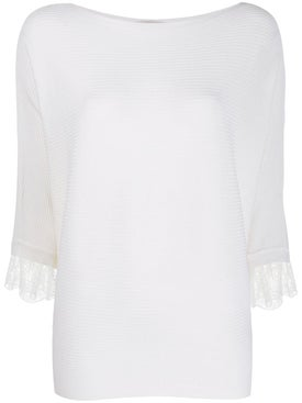Chloé - Lace Batwing Sleeve Top - Women