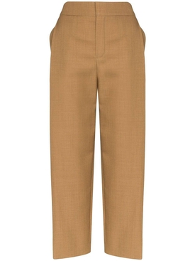 Brown tailored high-waisted pants