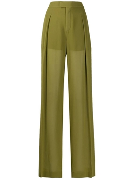 Green tailored pants