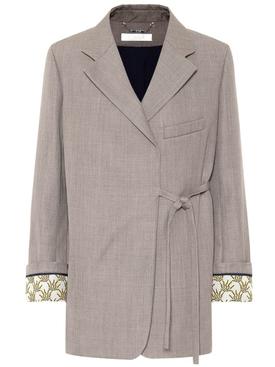 Wrap-around blazer jacket