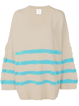 striped sweater BLUE