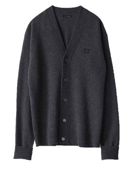 Acne Studios - Neve Face Cardigan Grey - Tops