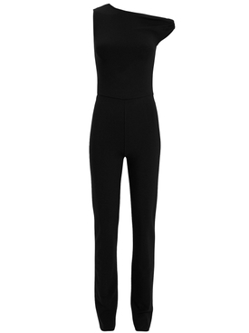 Atlein - One Shoulder Twist Jumpsuit Black - Women