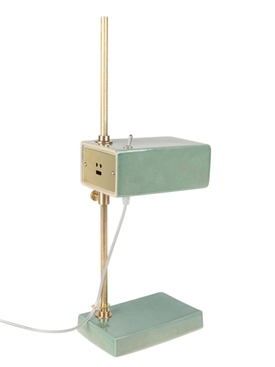 One Mold Ceramic Desk Lamp GREEN