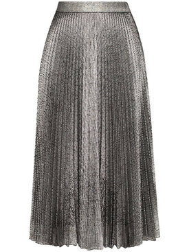 Christopher Kane - Silver Metallic Midi Skirt - Women