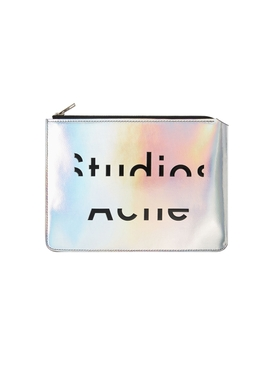 Iridescent Zip Clutch