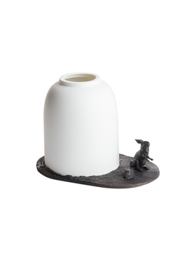 Fable des Etangs Rabbit candleholder