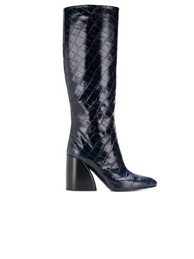 Navy Ink Wave Boots