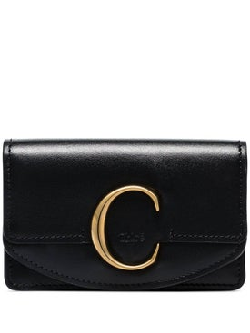 Chloé - Black Leather C Wallet - Wallets