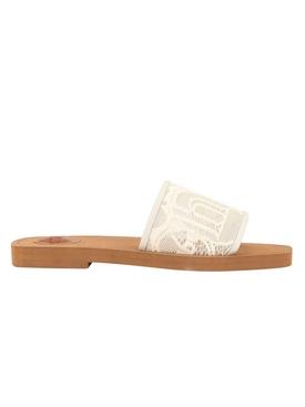 Lace slide sandals