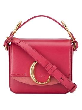 Mini C cross-body bag pink