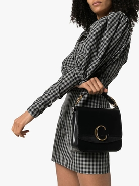 black medium c handbag