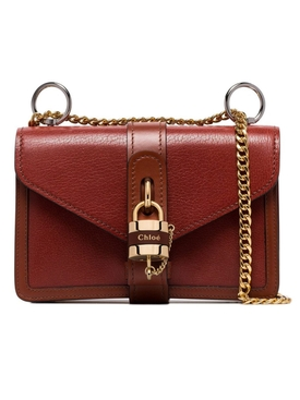 Aby Chain shoulder bag Sepia Brown
