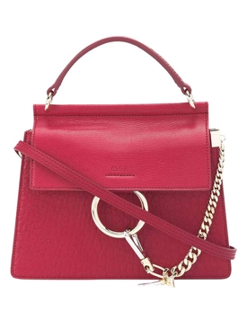 Small dusky red Faye bag
