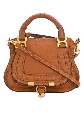 Tan mini Marci double carry bag
