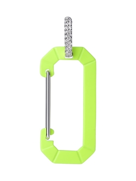 Chiara Earring Big, Fluorescent Yellow