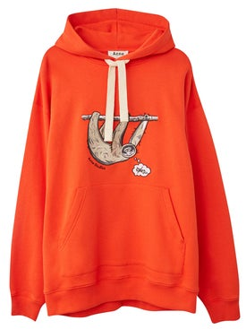 Acne Studios - Smiling Sloth Embroidered Hoodie - Men