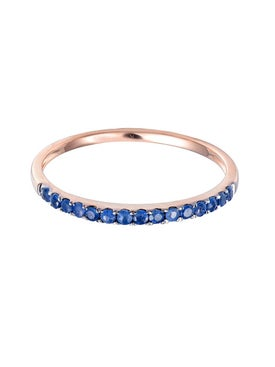 Rosa De La Cruz - Blue Sapphire Half Eternity Ring - Women