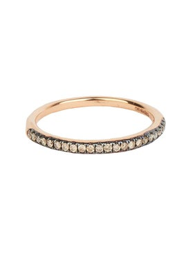 Rosa De La Cruz - Brown Diamond Half Eternity Ring - Women