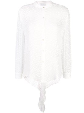 Carmen March - Button Plumetti Blouse White - Women