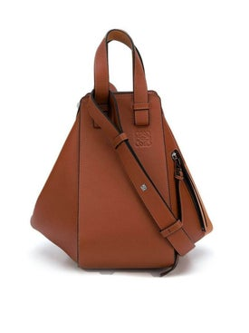 Loewe - Leather Hammock Bag Brown - Women