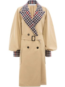 J.w. Anderson - Contrast Check Trench Coat - Women