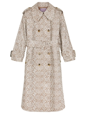 Faux Snakeskin Trench Coat