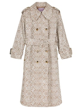 Alexachung - Faux Snakeskin Trench Coat - Clothing