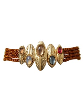 Sonia Petroff - Burnished Brown Twisted Shield Belt - Women