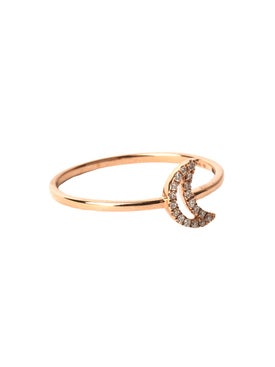 Rosa De La Cruz - 18kt Rose Gold Crescent Ring - Women