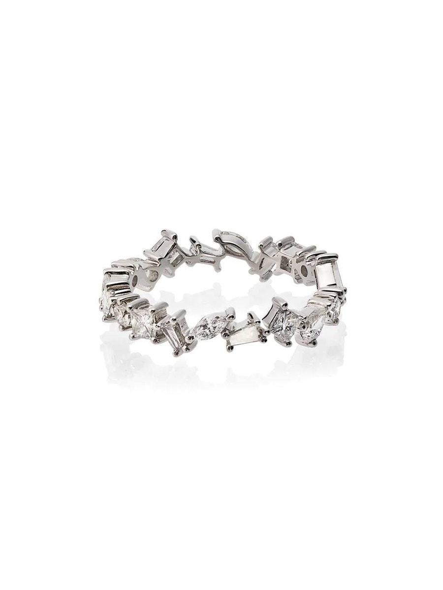 Rosa De La Cruz 18kt white gold diamond ring