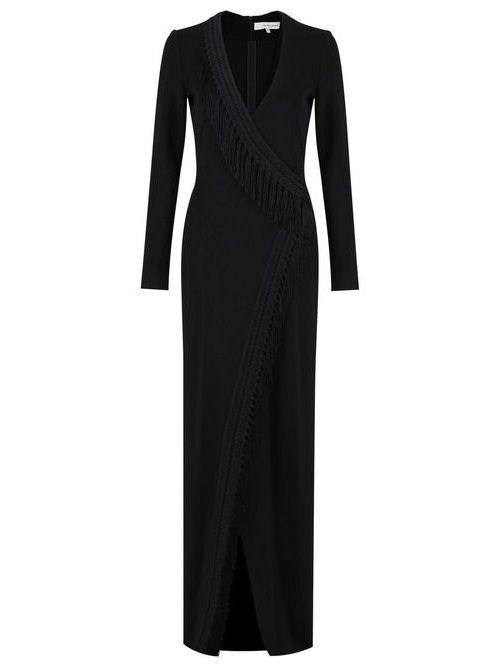 Maxi Fringe Trimmed Dress