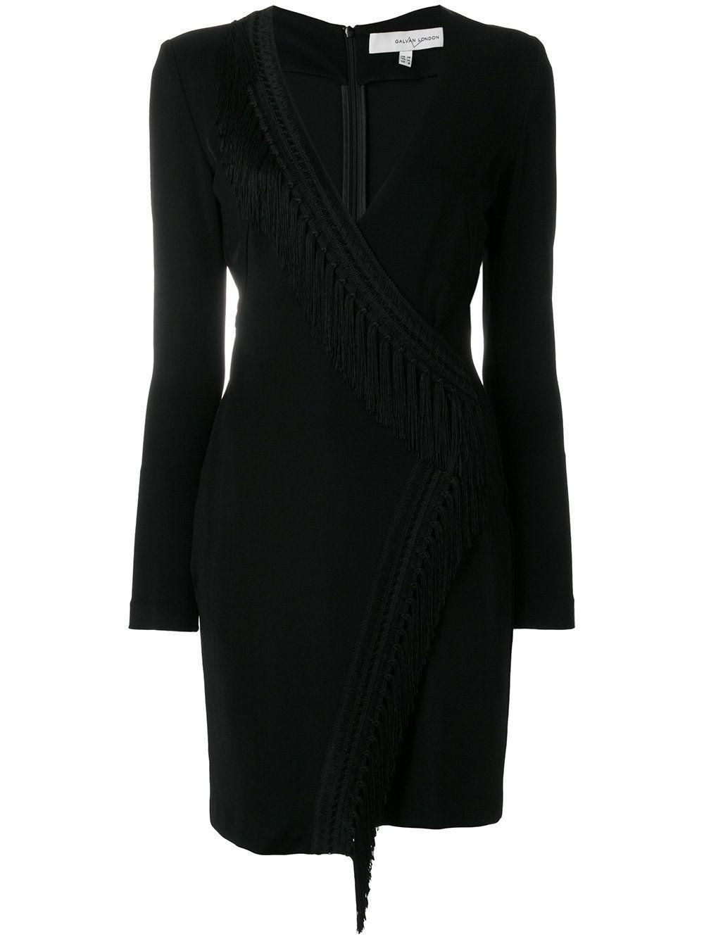 Wrap Fringe Detail Dress