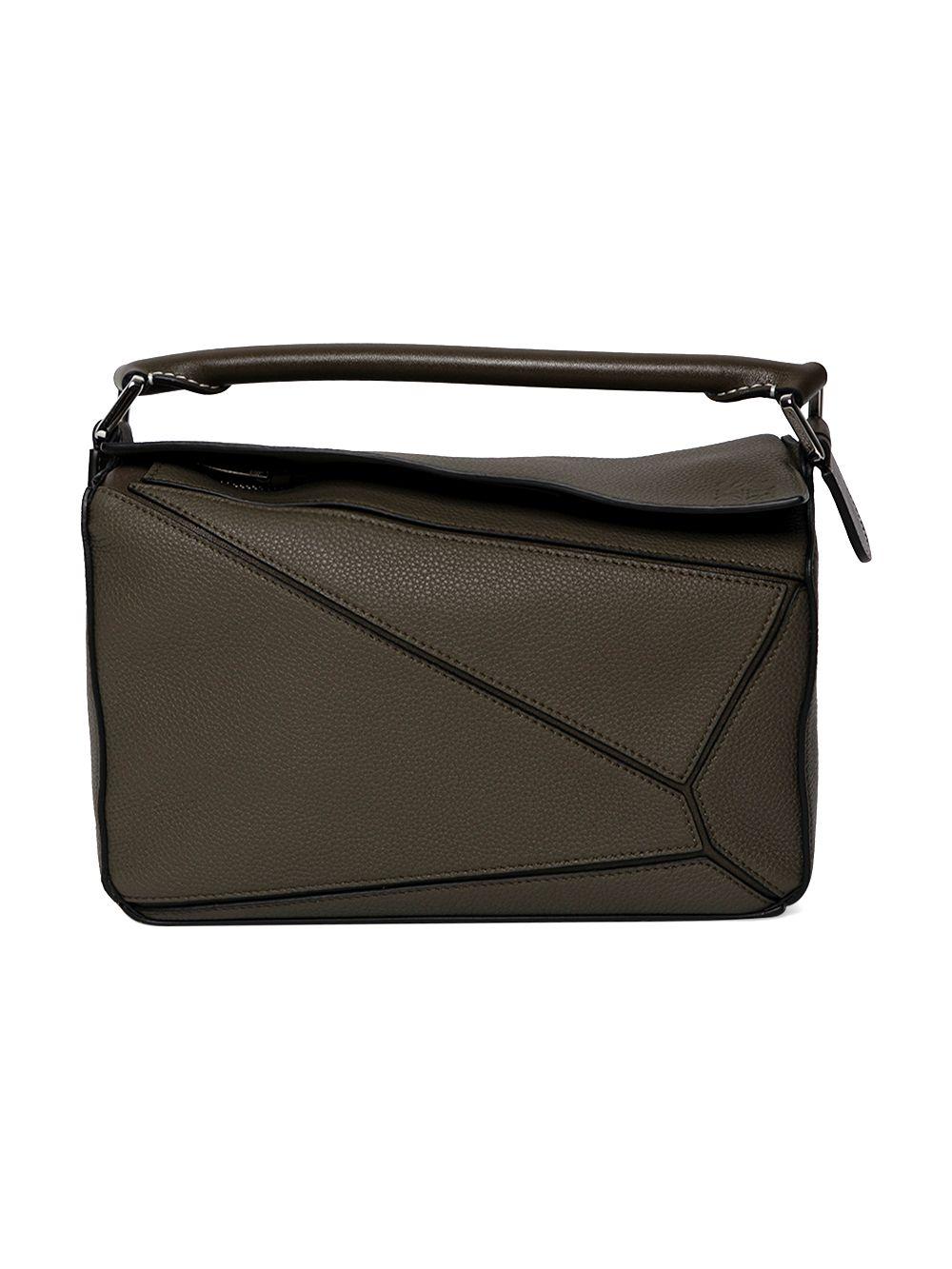 Leather Puzzle Shoulder Bag