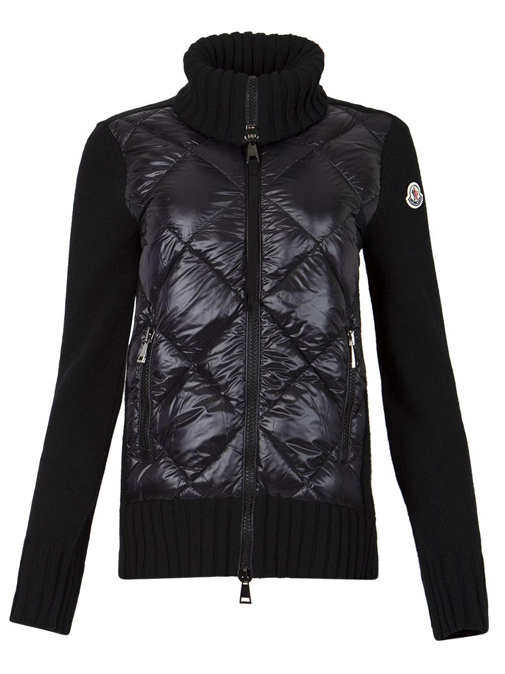 Wool Padded Cardigan Jacket