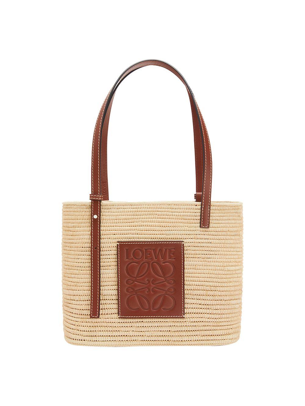 X Paula's Ibiza Small Square Raffia Basket Bag
