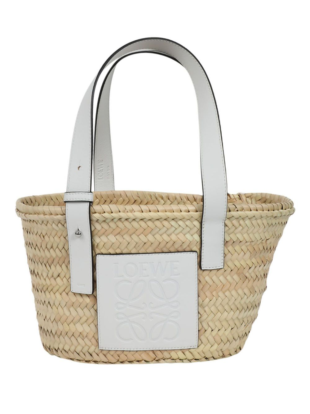 Small Basket Bag, White