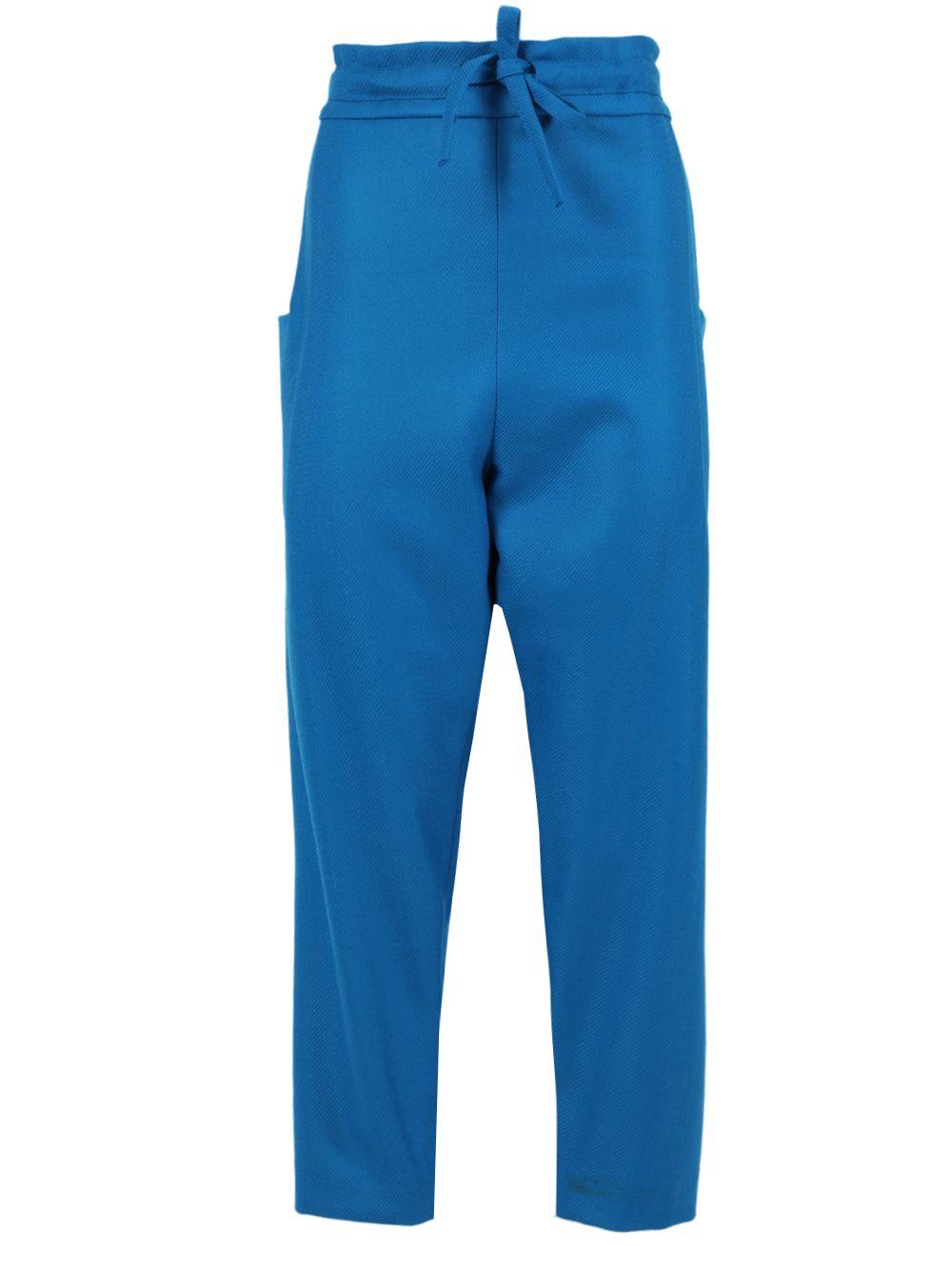 Maison Rabih Kayrouz BLUE TWILL WOVEN PANTS