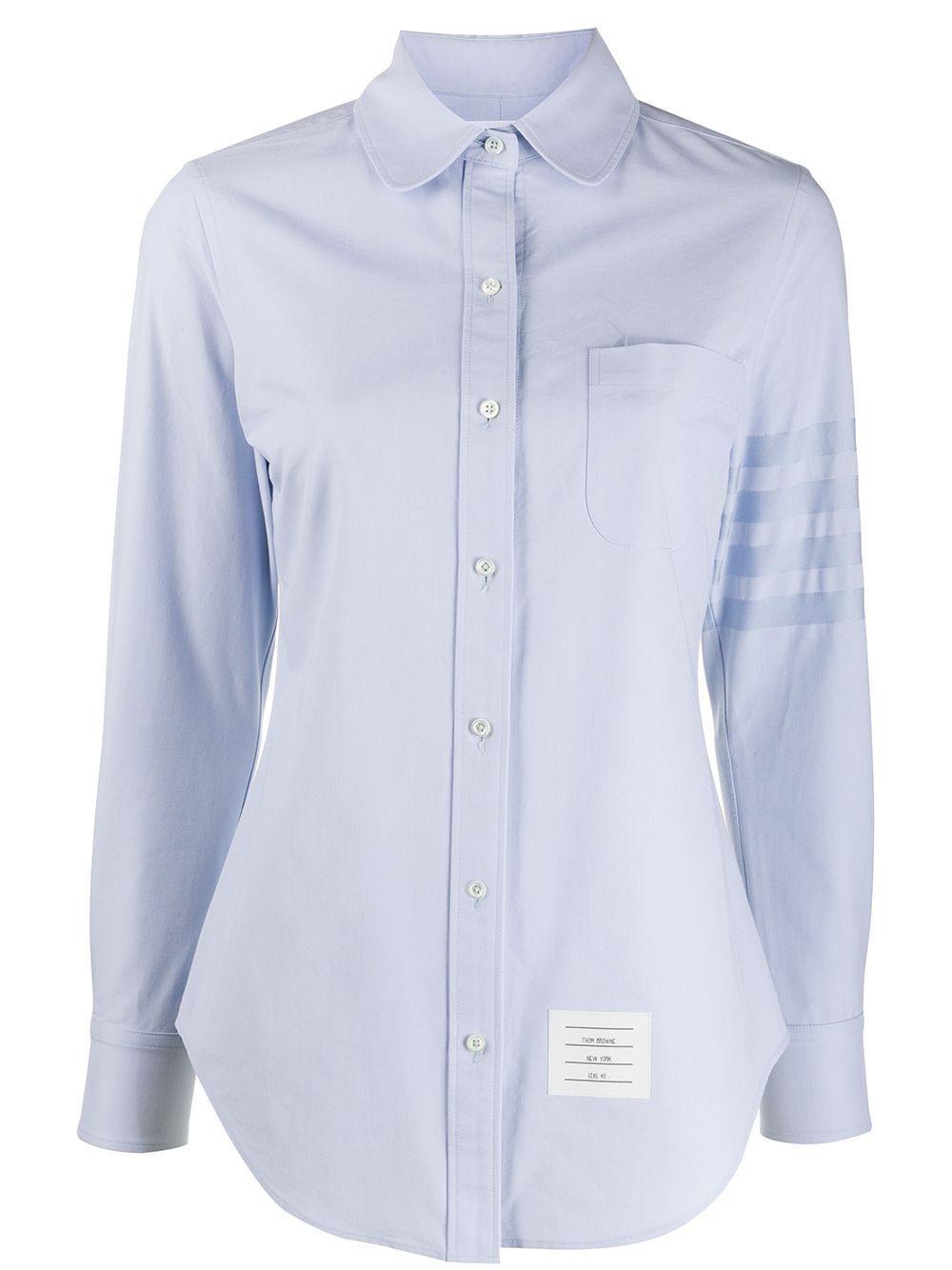 Thom Browne LIGHT BLUE CLASSIC COLLAR SHIRT