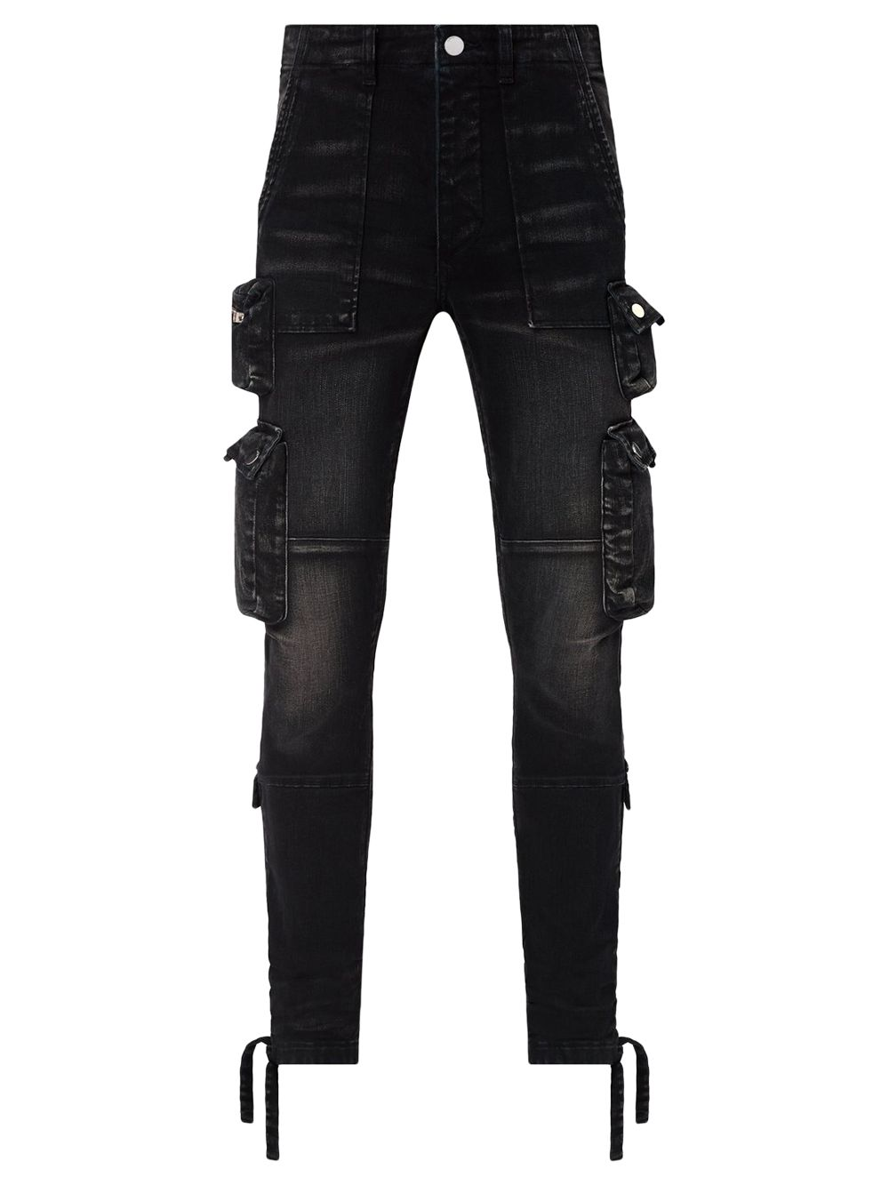 Tactical Cargo Jean Aged Black