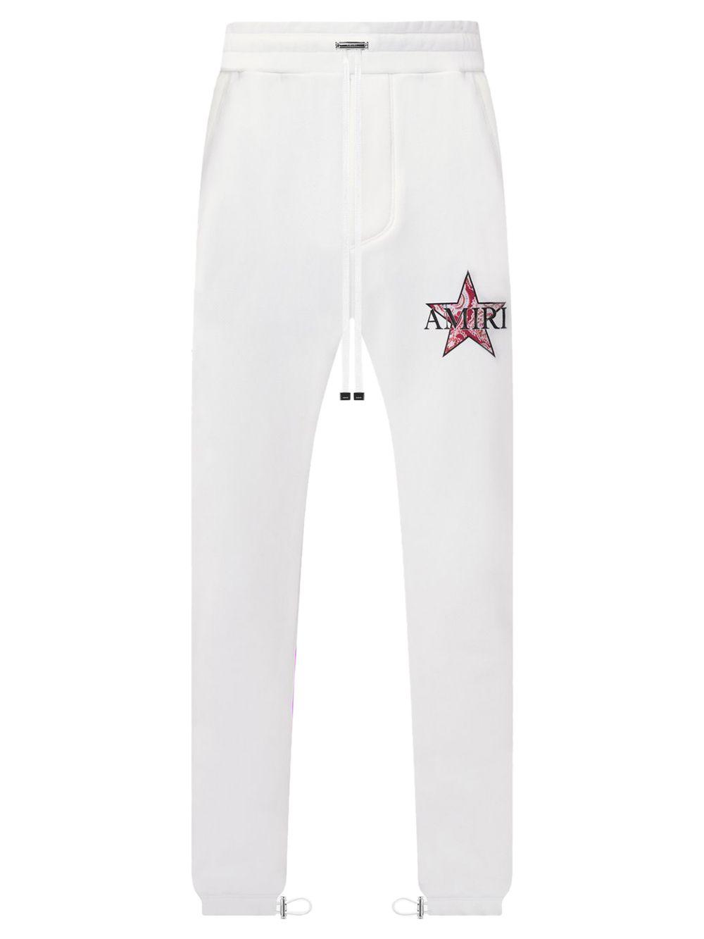 Paisley Star Sweatpants White