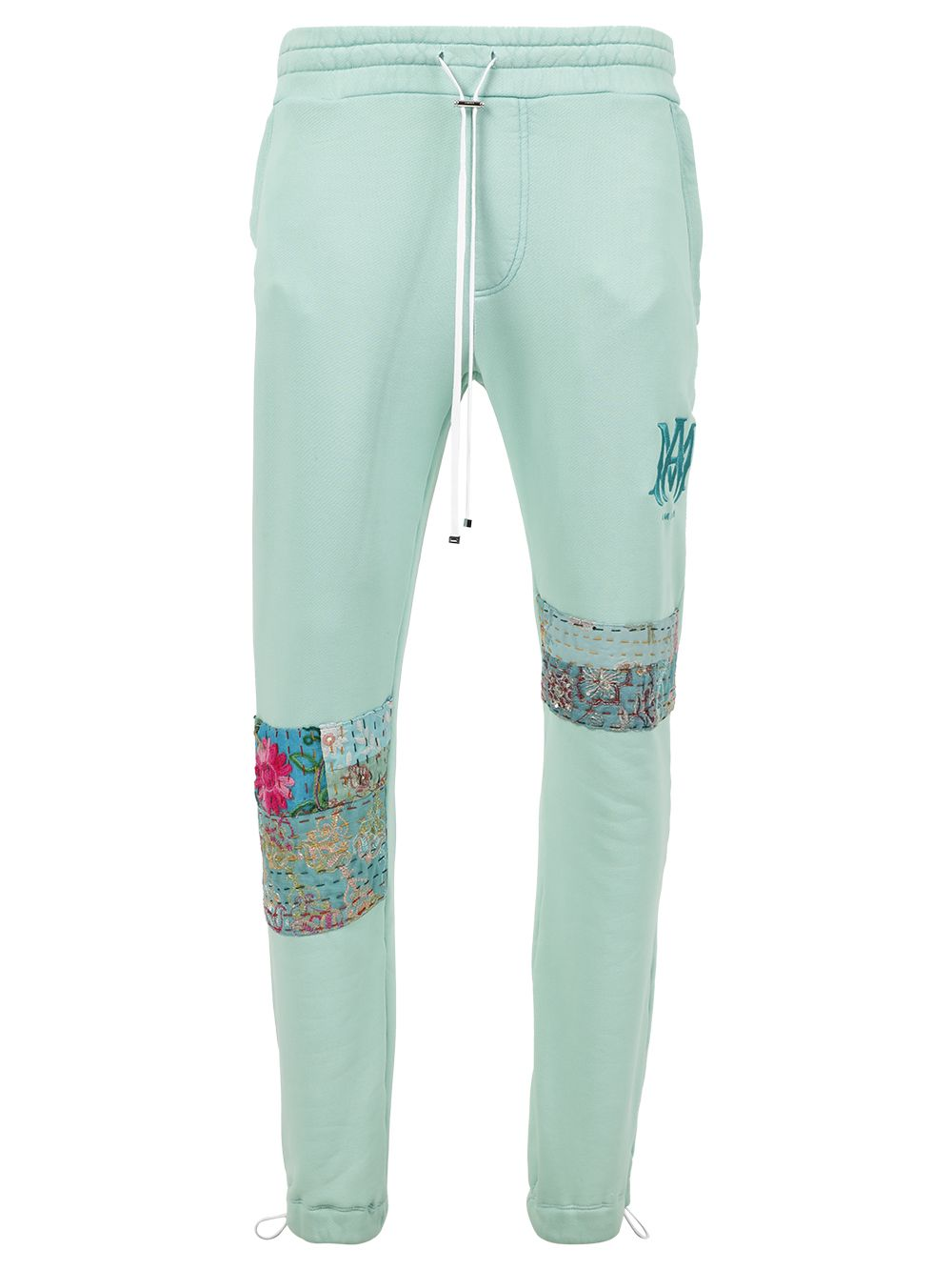 Quilted Art Patch Sweatpants Mint Green