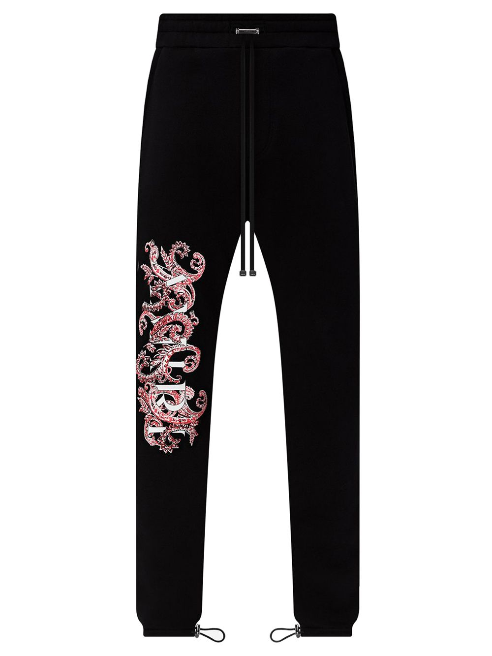 Paisley Allover Sweatpants Black And Red