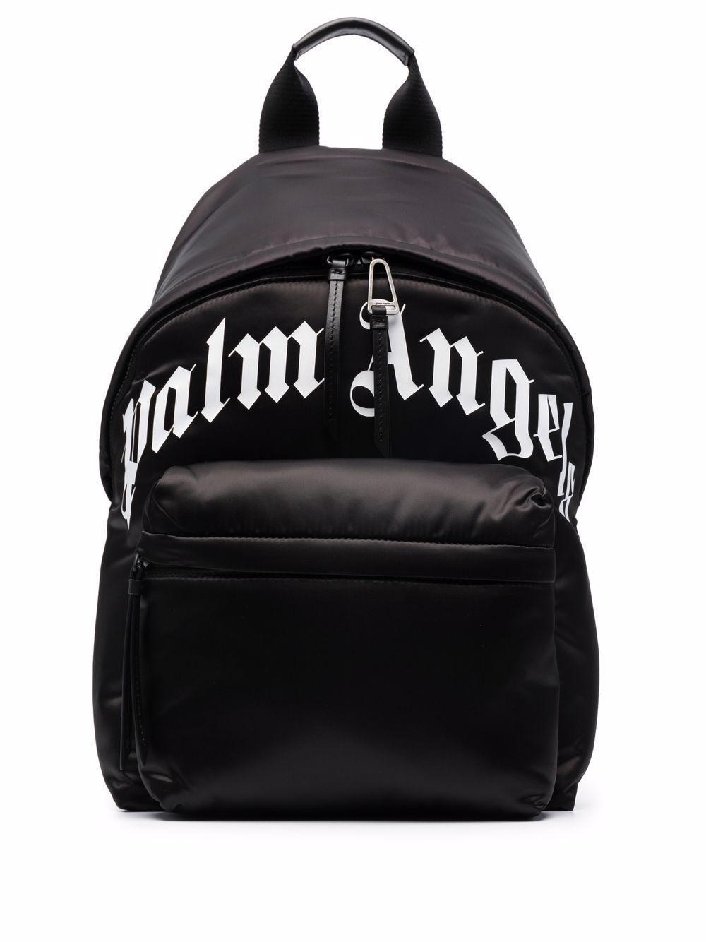 Curved Logo Backpack Black