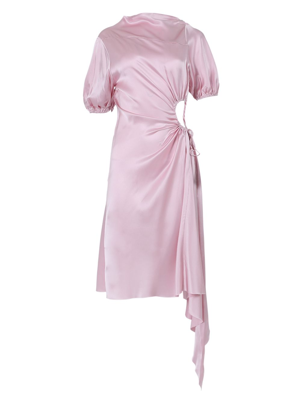 Marques' Almeida LIGHT PINK SILK MIDI CUT-OUT DRESS
