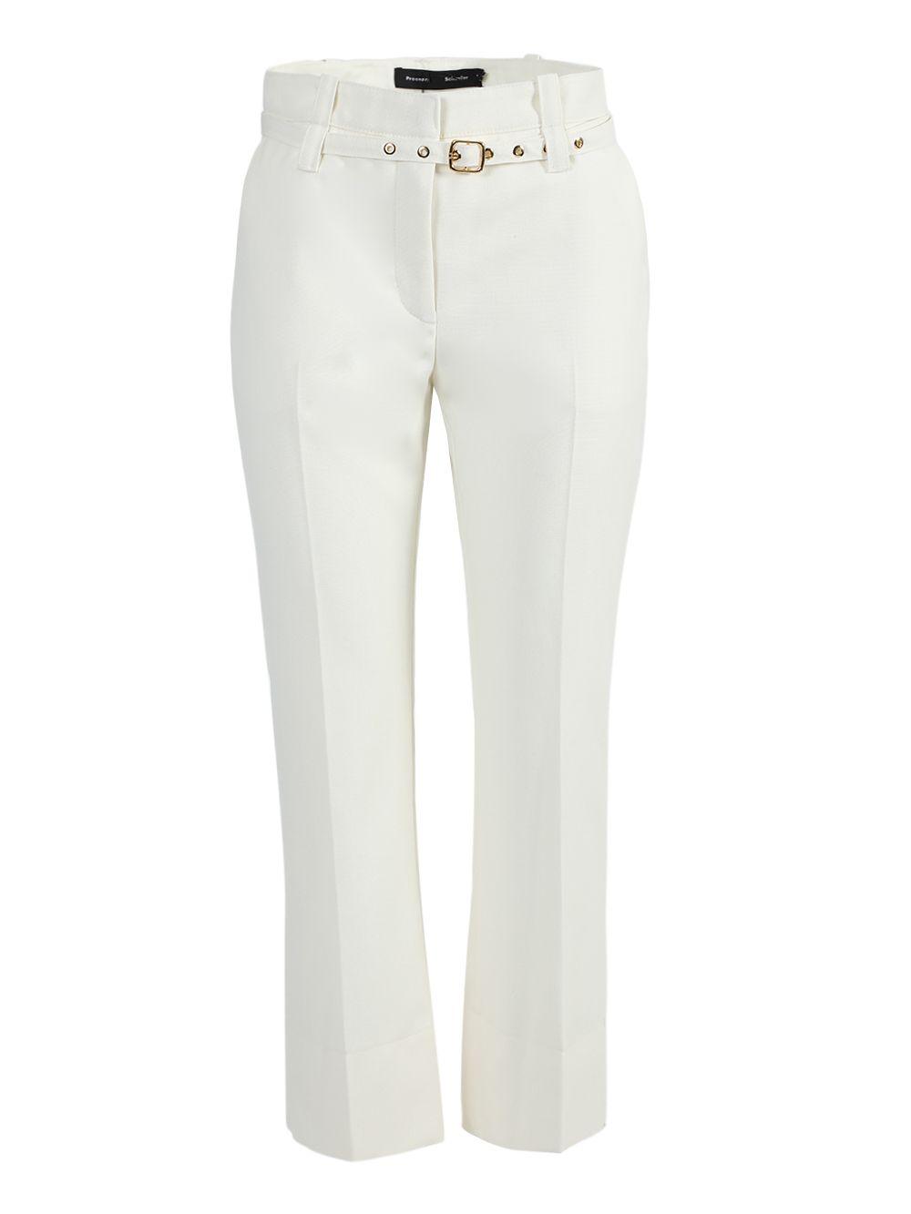 Proenza Schouler WHITE BELTED TUXEDO PANTS